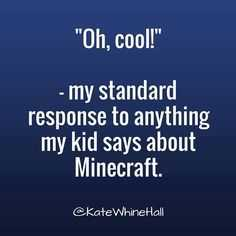 funny social share quotes - Minecraft replies