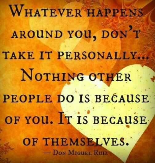 soulful quotes - taking things personally