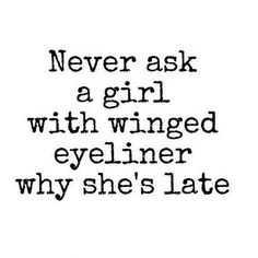 funny social share - winged eyeliner