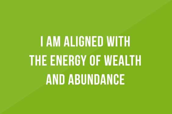 Positive Money Affirmations - Energy Of Wealth