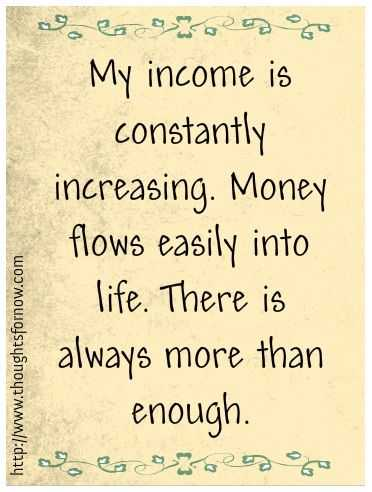 Positive Money Affirmations - Income
