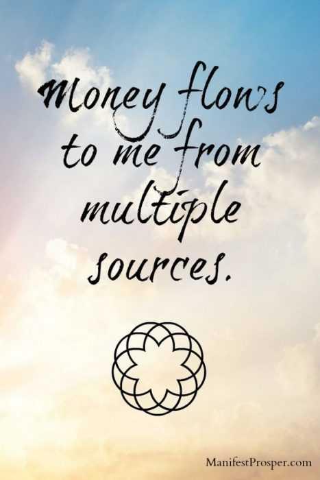 Positive Money Affirmations - Money Flows