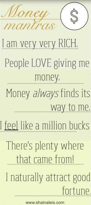 Positive Money Affirmations - Money Mantras