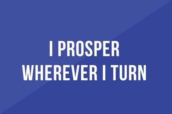Positive Money Affirmations - Prosper