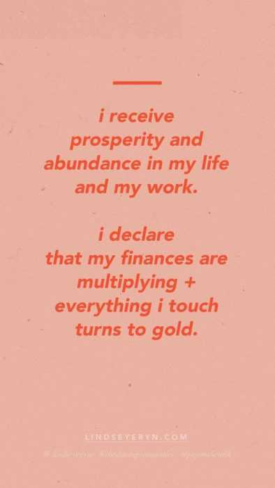 Positive Money Affirmations - Prosperity