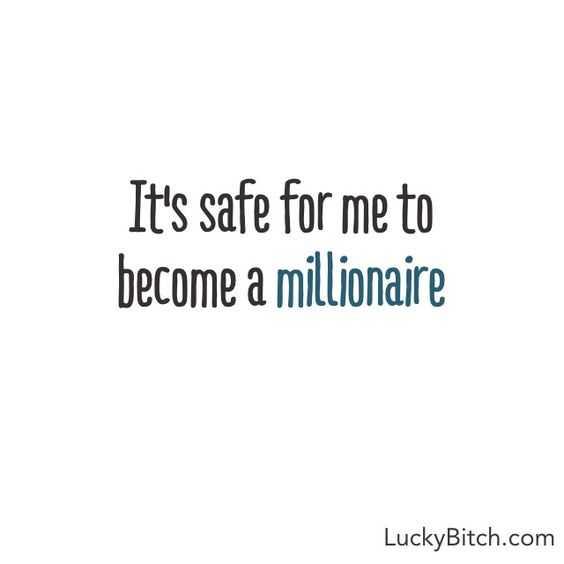 Positive Money Affirmations - Safe Millionaire