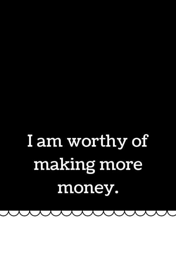 Positive Money Affirmations - Worthy