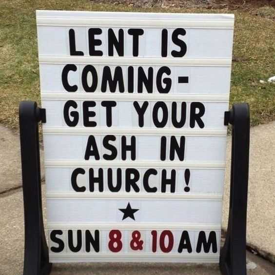 Funny Church Signs - Lent