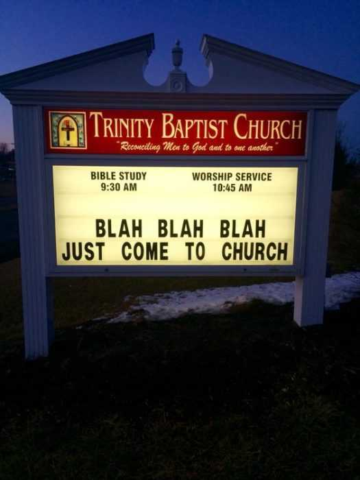 Funny Church Signs - Come To Church