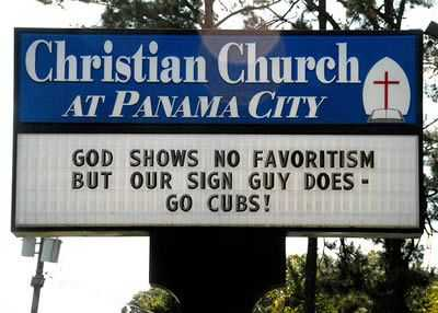 Funny Church Signs - Favoritism