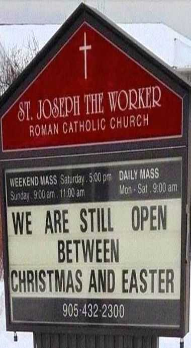 Funny Church Sign - Open For Business