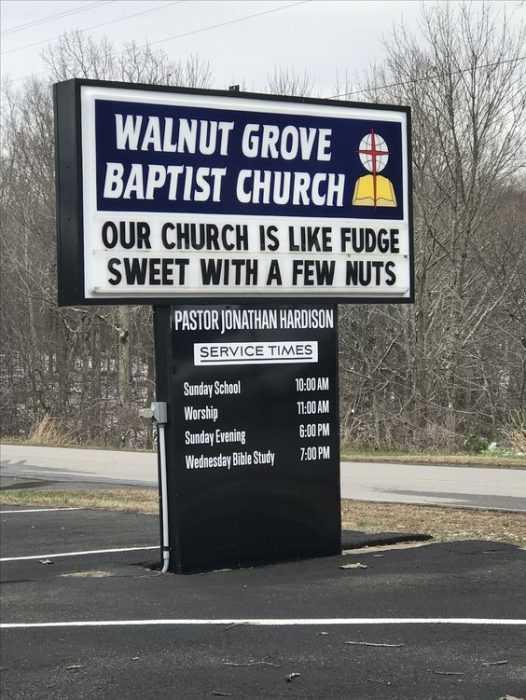 Funny Church Signs - Fudge And Church
