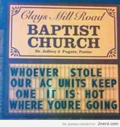 Hilarious Church Signs - Ac Thief