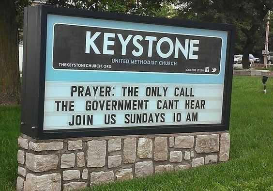 Funny Church Signs - Prayer