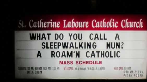 Hilarious Church Sign - Sleepwalking