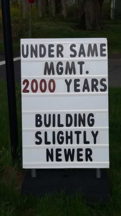 Funny Church Signs - New Management