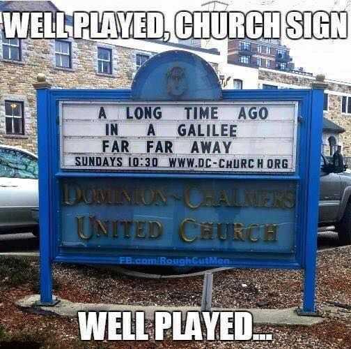 Comical Church Signs - Long Time Ago