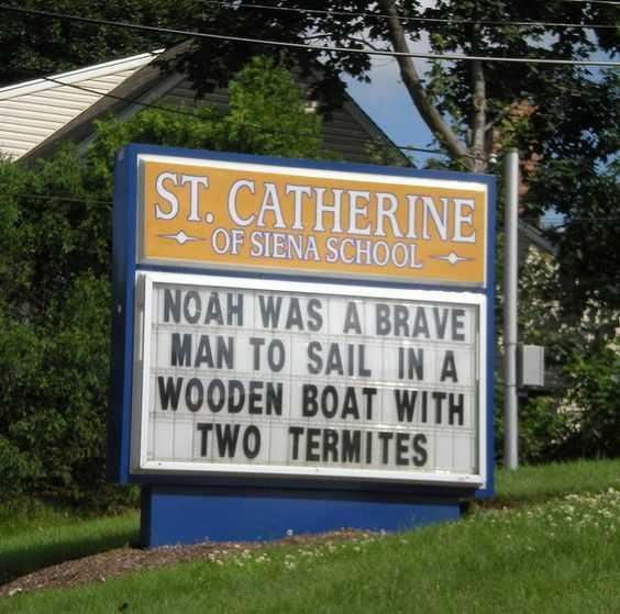 Funny Church Signs - Noah