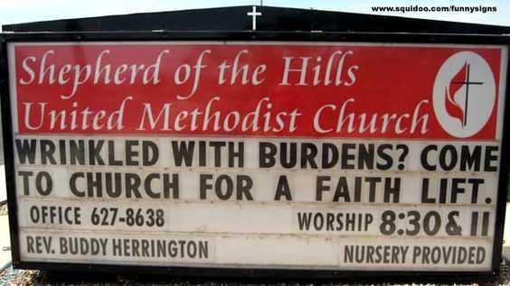 Funny Church Signs - Burdens