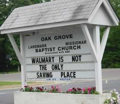 Funny Church Signs - Walmart