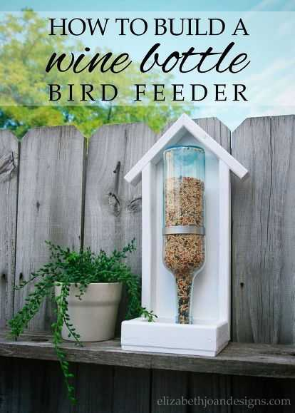 Upcycling Projects - Wine Bottle Bird Feeder