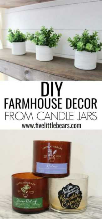 Upcycling Projects - Candle Jars