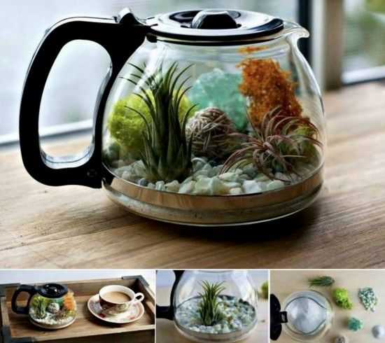 Upcycling Projects - Old Coffee Pot