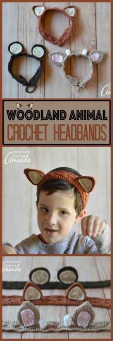 Funny Crochet Patterns - animal ears headbands