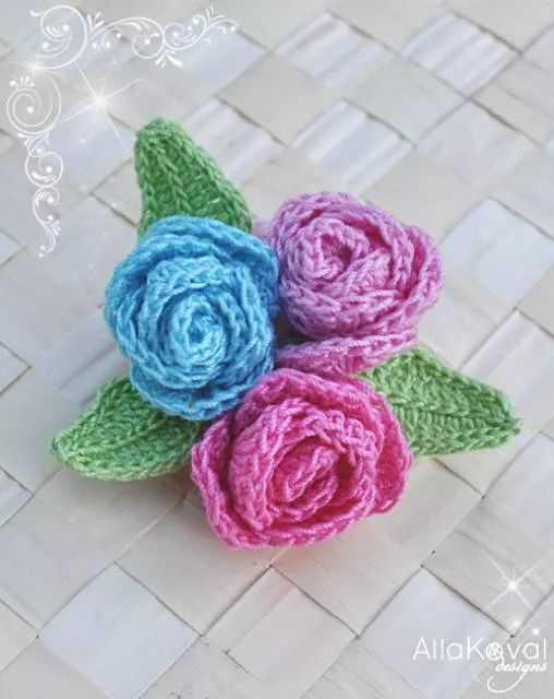 Funny Crochet Patterns - roses