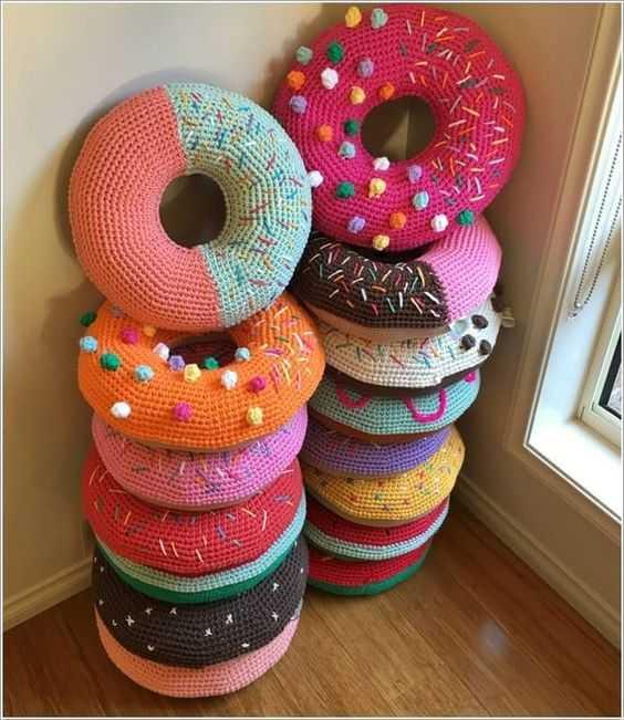 Funny Crochet Patterns - donut pillow