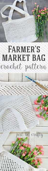 Funny Crochet project - farmers market bag