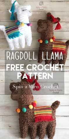 Funny Crochet Patterns - rag doll llama