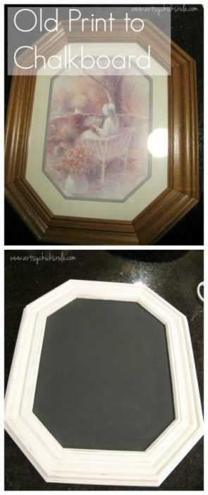 Upcycling Ideas - Old Print To Chalkboard