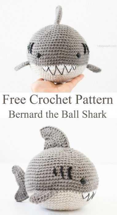 Funny Crochet Shark