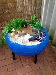 Upcycling Projects - Tire Sandbox