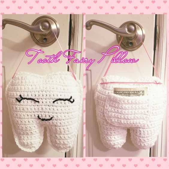 Funny Crochet tooth fairy pillow