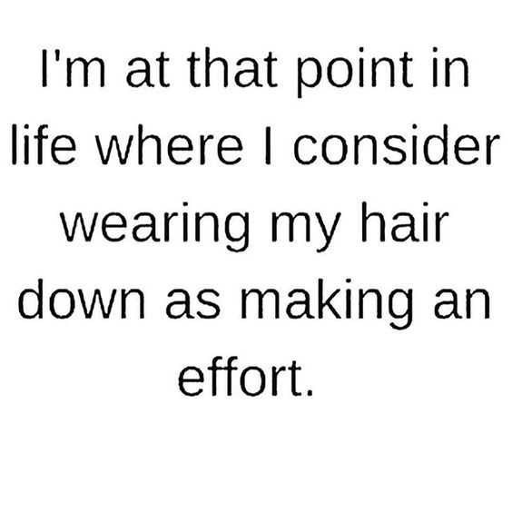 snappy quotes - wearing hair down