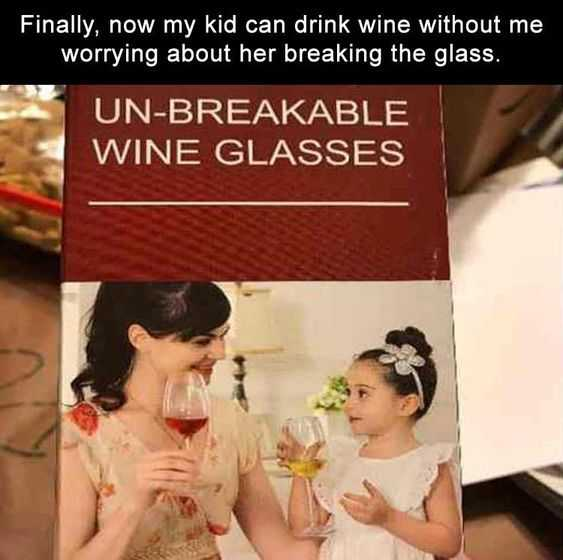 Hilarious Funny Images - Just Worried About The Glass Huh?