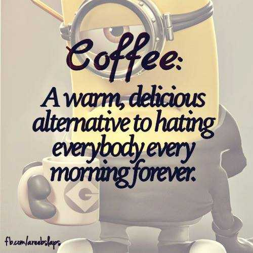 Funny Minion Images With Captions - Coffee