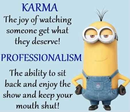 Funny Minion Pictures With Sayings - Karma