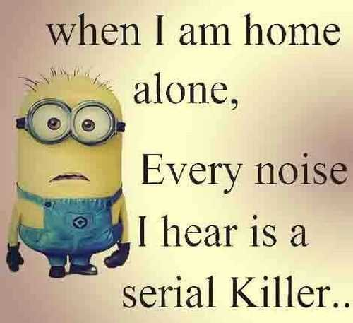 Funny Minion Pictures With Sayings - Home Alone