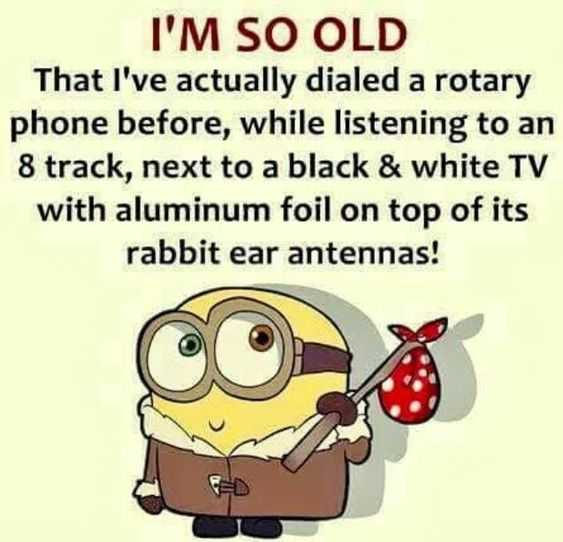 Funny Minion Pictures With Sayings - Old