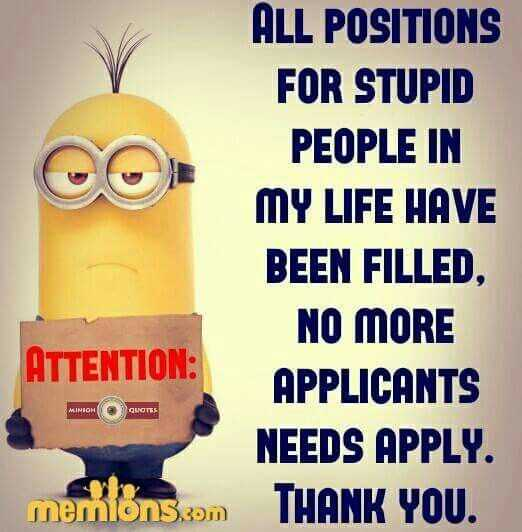 Funny Minion Pictures With Sayings - Positions