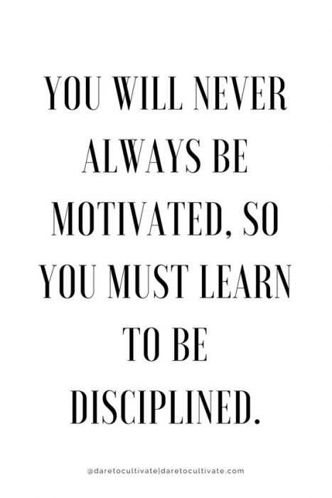 Amazing Quotes on Life - disciplined