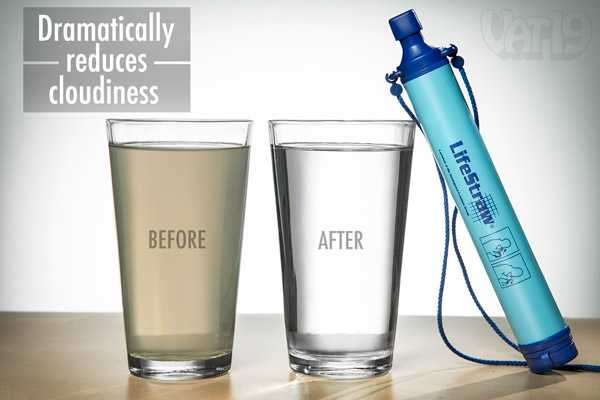 lifestraw water filter in action