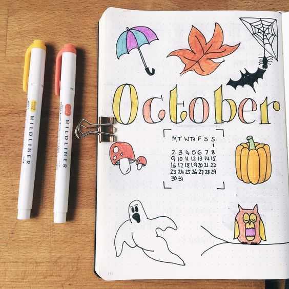 october bullet journal condensed month