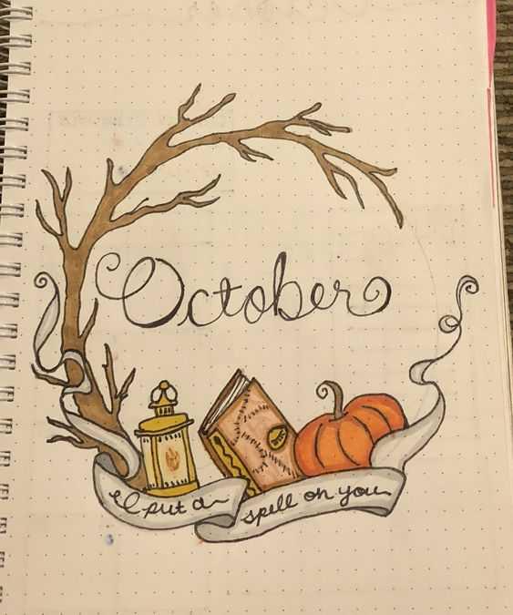 october bullet journal themes