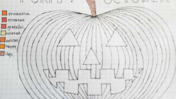 october bullet journal ideas pumpkin tracker
