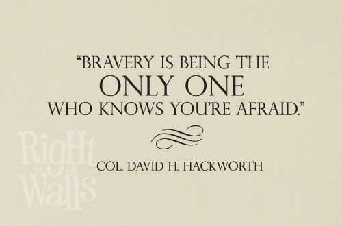 Quotes about bravery and fear