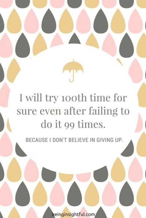 Quotes on never giving up and determination